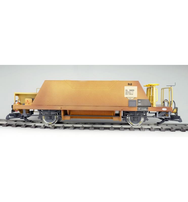 Wagon szutrówka 2-osiowa, RhB Xc 9423, żółty, Epoka VI, Skala G,Pullman - ESU 36054