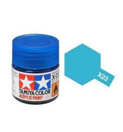 Tamiya 81523 - Farba akrylowa - X-23 Clear Blue gloss / 10ml