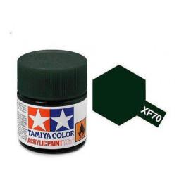 Tamiya 81770 - Farba akrylowa - XF-70 Dark Green / 10ml
