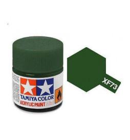 Tamiya 81773 - Farba akrylowa - XF-73 Dark Green/ 10ml