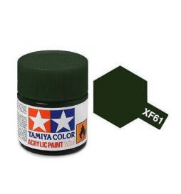 Tamiya 81761 - Farba akrylowa - XF-61 Dark Green / 10ml