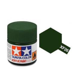 Tamiya 81726 - Farba akrylowa - XF-26 Deep Green Matt/ 10ml