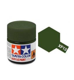 Tamiya 81713 - Farba akrylowa - XF-13 JA Green Matt/ 10ml
