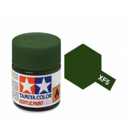 Tamiya 81705 - Farba akrylowa - XF-05 Flat Green Matt/ 10ml