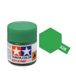 Tamiya 81528 - Farba akrylowa - X-28 Park Green gloss / 10ml