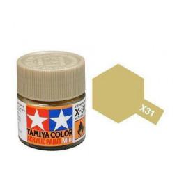 Tamiya 81531 - Farba akrylowa - X-31 Titanum Gold gloss / 10ml