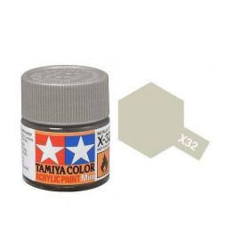 Tamiya 81532 - Farba akrylowa - X-32 Titanum Silver gloss / 10ml