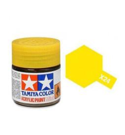 Tamiya 81524 - Farba akrylowa - X-24 Clear Yellow gloss / 10ml