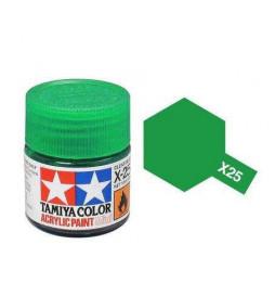 Tamiya 81525 - Farba akrylowa - X-25 Clear Green gloss / 10ml