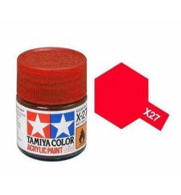Tamiya 81527 - Farba akrylowa - X-27 Clear Red gloss / 10ml