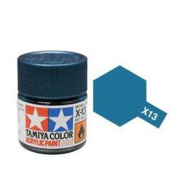 Tamiya 81513 - Farba akrylowa - X-13 Metallic Blue gloss / 10ml