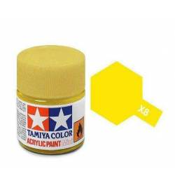 Tamiya 81508 - Farba akrylowa - X-8 Lemon Yellow gloss/ 10ml