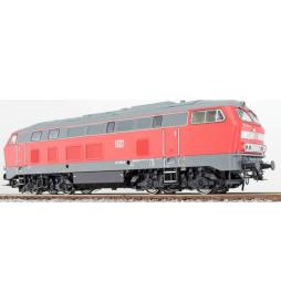 Lokomotywa spalinowa, DB BR 215, 215 049, Ep V, czerwony, LokSound, Generator dymu, Skala H0, AC/DC - ESU 31029