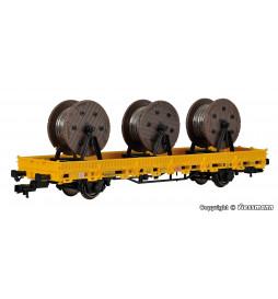 Kibri 26269 - H0 Wagon platforma z 3 szpulami kabla