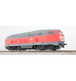 Lokomotywa spalinowa, DB BR 215, 215 117, Ep IV, ciemnoczerwona, LokSound, Generator dymu, Skala H0, AC/DC - ESU 31018