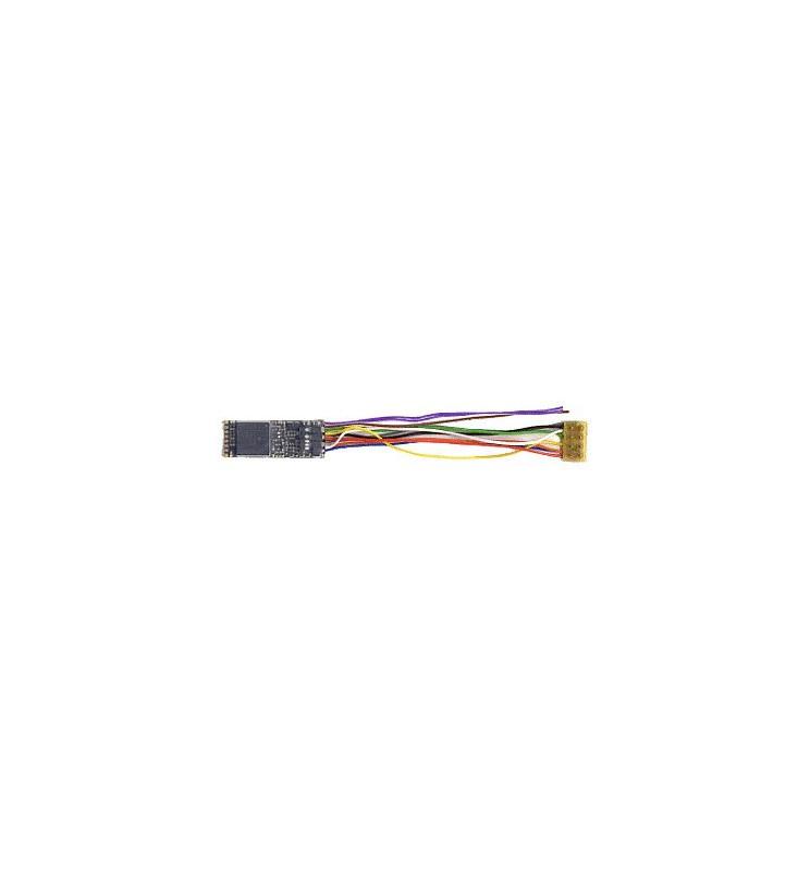 Dekoder jazdy i dźwięku MX646R (1,1W) DCC NEM652 8-pin z przewodami