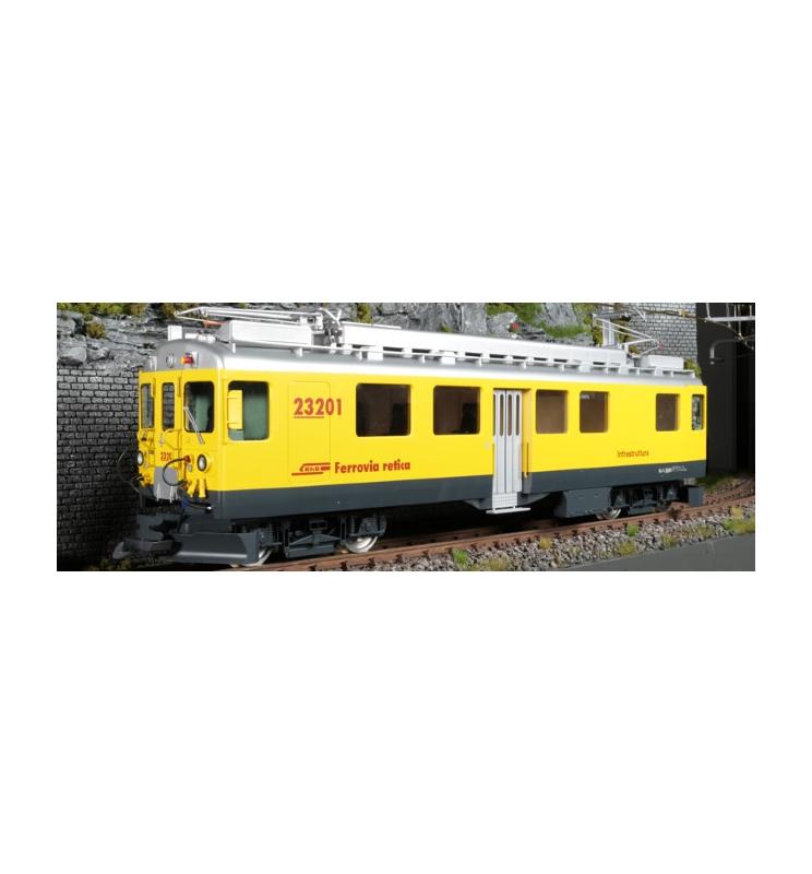 Elektryczny wagon techniczny RhB, Xe 4/4, Nr. 232 01, Żółty, Epoka VI, Skala G, Pullman - ESU 30134