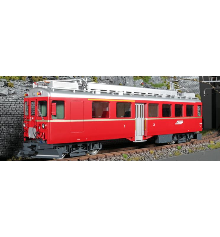 Elektryczny wagon silnikowy RhB, ABe 4/4 II, Nr. 44, Złoty pasek boczny, Epoka III, Skala G, Pullman - ESU 30133
