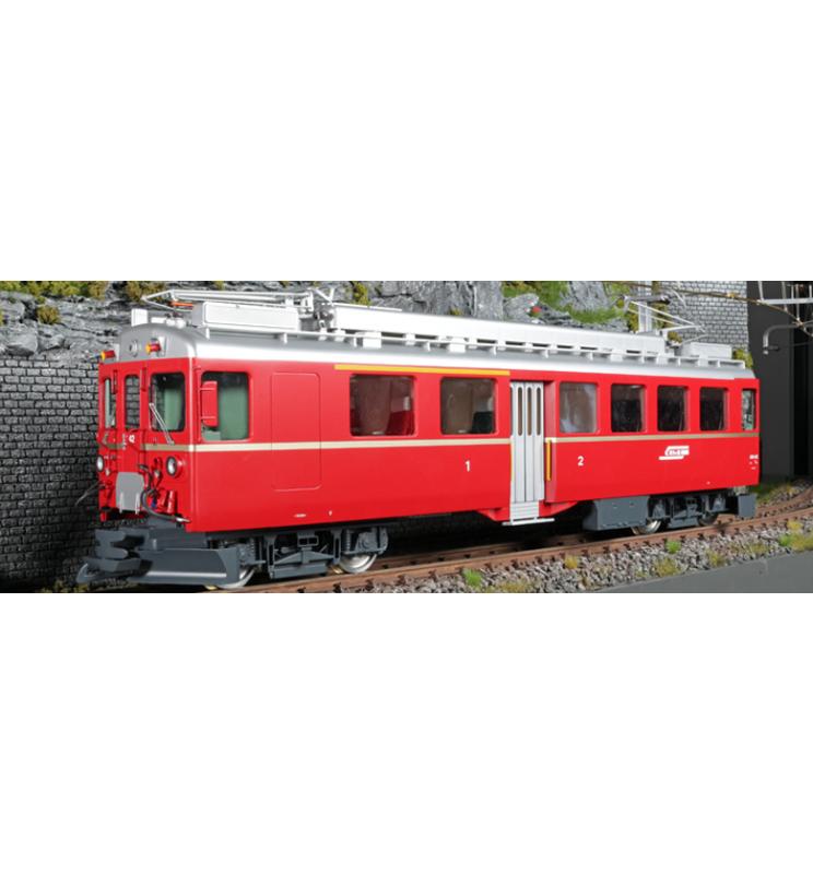 Elektryczny wagon silnikowy RhB, ABe 4/4 II, Nr. 42, Złoty pasek boczny, Epoka III, Skala G, Pullman - ESU 30132