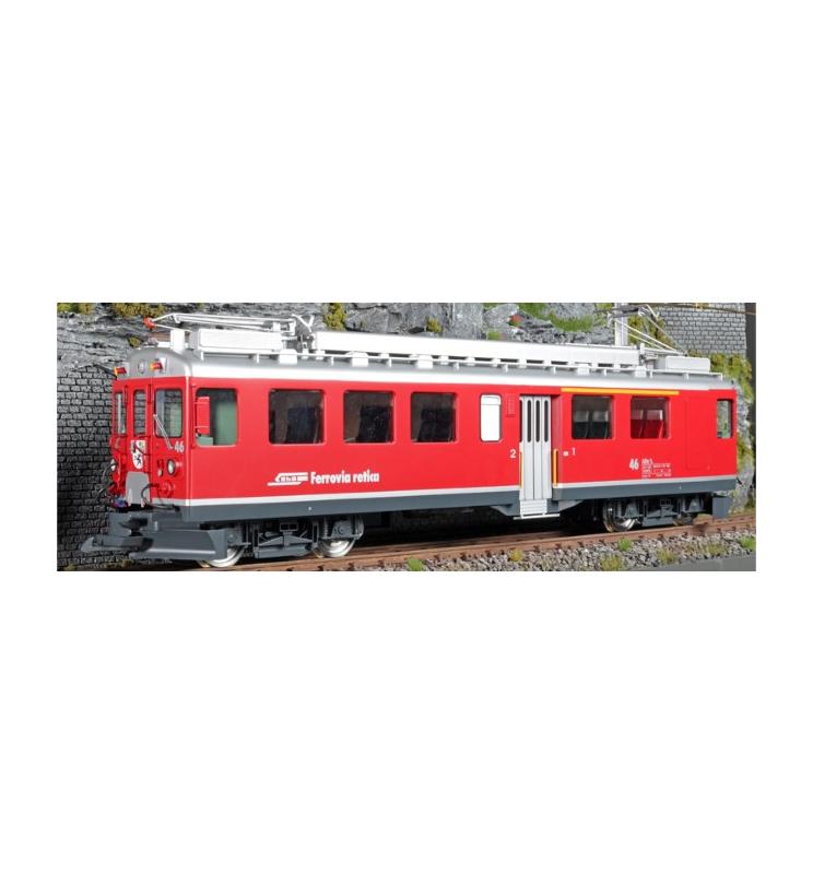Elektryczny wagon silnikowy RhB, ABe 4/4 II, Nr. 43, Srebrny pasek dolny, Epoka VI, Skala G, Pullman - ESU 30131