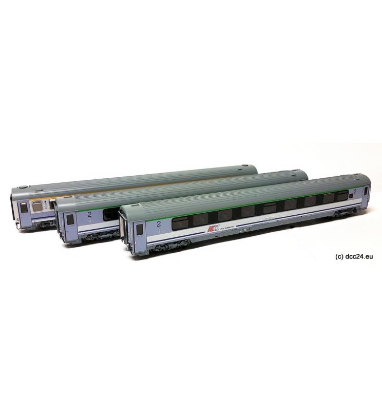 """Zestaw 3 wagonów PKP pociągu IC """"Chrobry"""" - ACME 90033"""