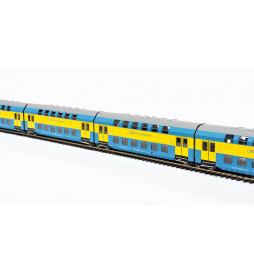 Zespół wagonów piętrowych, Bhp, żółto-niebieski, PKP PR, Chojnice - Rivarossi HRS4238