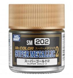 Mr.Hobby SM-202 - Metalizer Super Gold 2, złoty