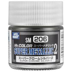 Mr.Hobby SM-206 - Metalizer Super Chrom Silver 2