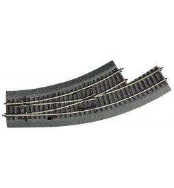Roco 42556 - Rozjazd łukowy lewy BWL-2/3 na gumowym nasypie