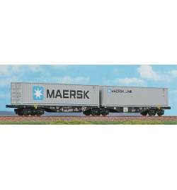 ACME 40360 - Podwójna platforma kontenerowa Sggrss '80 PKP Cargo, Ep. VI + 2 kontenery Maersk