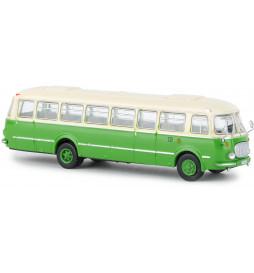 """Brekina 58259 - Autobus Jelcz 043 / Skoda 706 RTO/ Ogórek beżowo-zielony """"Wismut"""""""