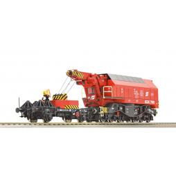 Roco 73036 - Cyfrowy model obrotowego dźwigu kolejowego EDK 750, DCC z dźwiękiem