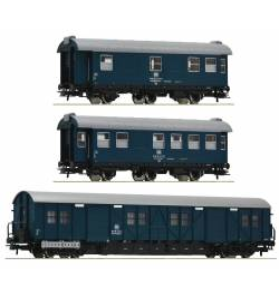 Roco 67198 - Zestaw 3 wagonów pociągu technicznego DB