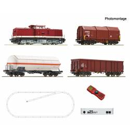 Roco 51321 - Cyfrowy zestaw startowy z21: Spalinowóz 114 z pociągiem towarowym