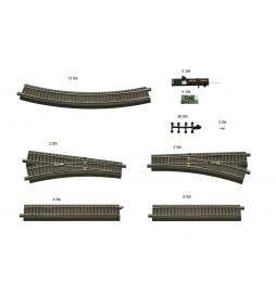 Roco 51250 - Zestaw torów GeoLine do zestawów cyfrowych SET-1