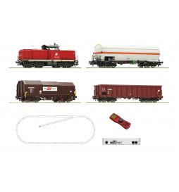 Roco 51322 - Cyfrowy zestaw startowy z21: Lokomotywa spalinowa 2048z pociągiem towarowym