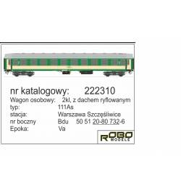 Robo 244610 - Wagon kuszetka 110Ac typ Y, St. Warszawa Grochów, ep. Va