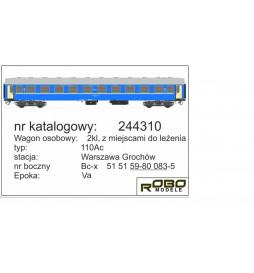 Robo 244320 - Wagon 2 kl 110Ab z miejscami do leżenia, St. Kraków, ep. Vc, WARS