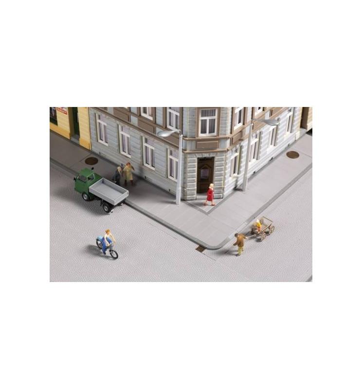 Auhagen 42657 - Płyty chodnikowe z akcesoriami