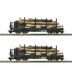 Roco 34581 - 2 piece set: Stake wagons