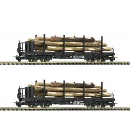 Roco 34581 - Zestaw 2 platform wąskotorowych H0e, ÖBB