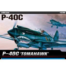 Academy 12235 - Samolot P-40C Tomahawk IIB Ace of African Front, do sklejania, skala 1:48