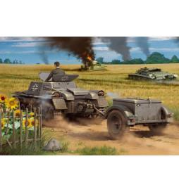 HobbyBoss 80146 - Niemiecki wóz amunicyjny Munitionsschlepper auf Panzerkampfwagen I Ausf A z przyczepą, skala 1:35