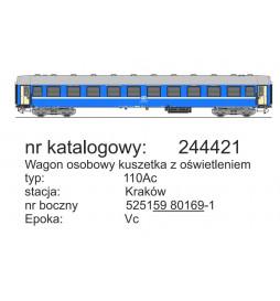 Robo 244321 - Wagon 2 kl 110Ab z miejscami do leżenia, St. Kraków, ep. Vc, WARS, z oświetleniem