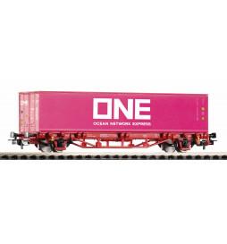 Piko 57757 - Wagon platforma z kontenerem ONE, NS, epoka VI