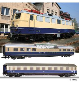 Zestaw Rheingold E10.12 + 2 wagony, DB ep - Tillig TT 01614