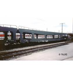 Set 3 wagonów do transp. aut DDm DR ep IV - Tillig TT 01636