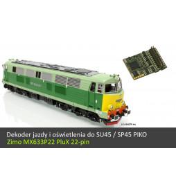 Dekoder jazdy i oświetlenia do SU45 / SP45 Piko - Zimo MX637P22 PluX 22-pin