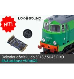 Dekoder dźwięku do SP45 / SU45 Piko - LokSound V4.0 PluX 22-pin (ESU 56497)