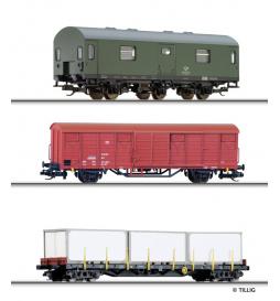 Zestaw wagonów pocztowych, DR ep.IV - Tillig TT 01671